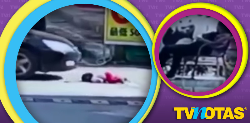 Perturbador accidente a niña en China mientras la mamá dormía.