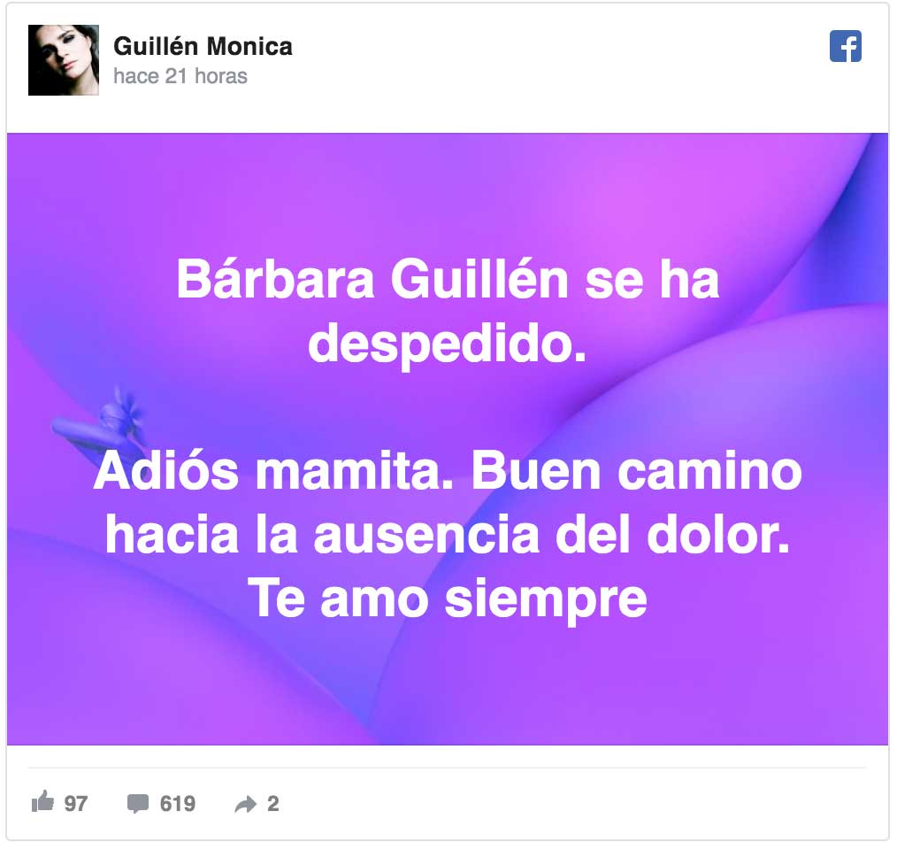 Facebook: Guillén Mónica