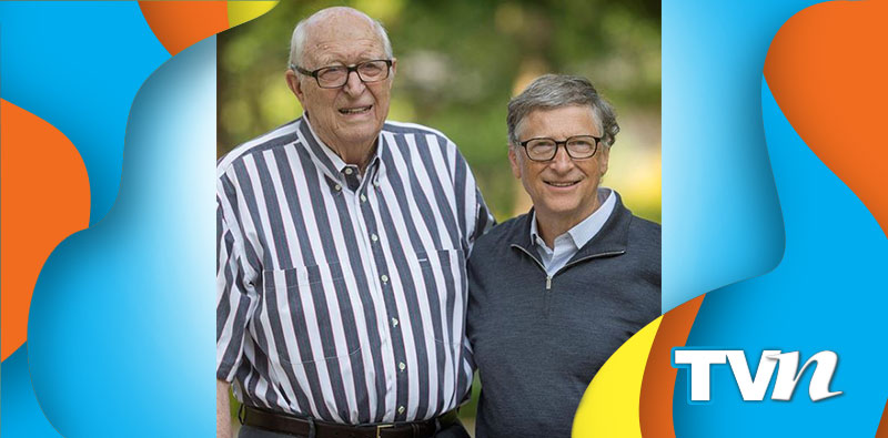 Bill Gates con su papá.