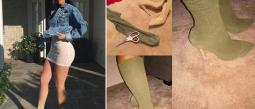 Kylie Jenner usa costosas botas calcetines.