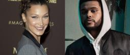 The Weeknd y Hadid beso y beso